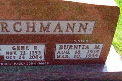 KIRCHMANN, BURNITA M. - Linn County, Iowa   BURNITA M. KIRCHMANN