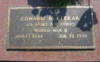 KLEKAR, EDWARD B. - Linn County, Iowa   EDWARD B. KLEKAR