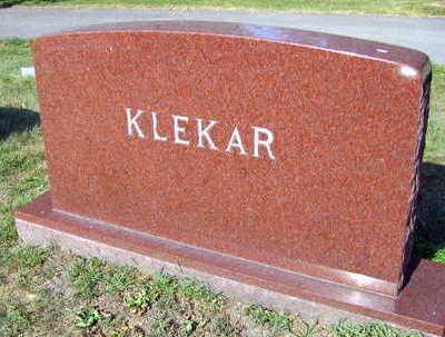 KLEKAR, FAMILY STONE - Linn County, Iowa | FAMILY STONE KLEKAR