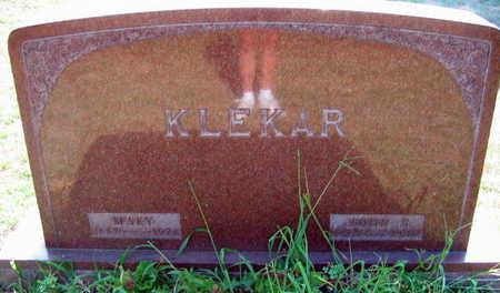 KLEKAR, MARY - Linn County, Iowa | MARY KLEKAR