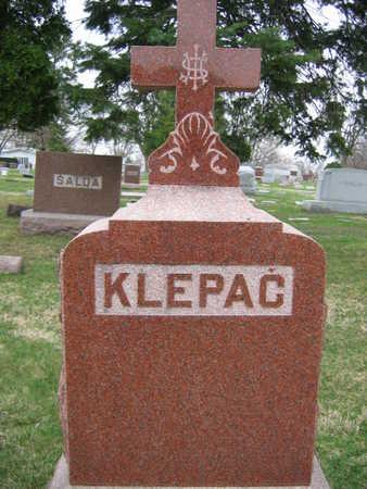 KLEPAC, FAMILY STONE - Linn County, Iowa   FAMILY STONE KLEPAC