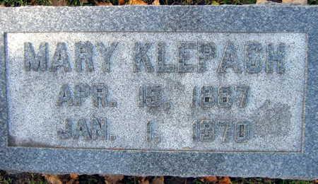 KLEPACH, MARY - Linn County, Iowa   MARY KLEPACH