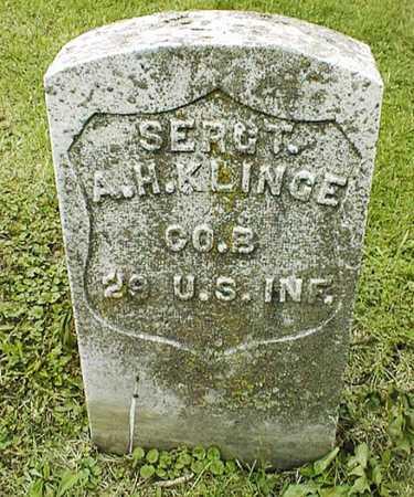 KLINGE, SGT. A.H. - Linn County, Iowa   SGT. A.H. KLINGE