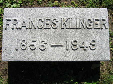 KLINGER, FRANCES - Linn County, Iowa   FRANCES KLINGER