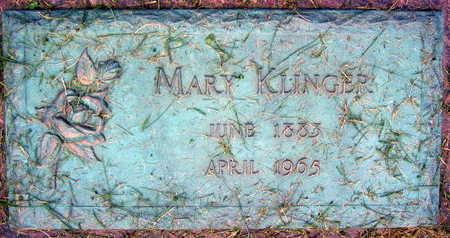 KLINGER, MARY - Linn County, Iowa   MARY KLINGER