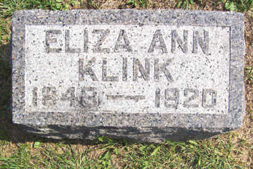 KLINK, ELIZA ANN - Linn County, Iowa | ELIZA ANN KLINK
