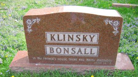 KLINSKY BONSALL, FAMILY STONE   (KLINSKY BONSALL SOVA) - Linn County, Iowa | FAMILY STONE   (KLINSKY BONSALL SOVA) KLINSKY BONSALL