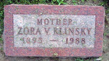 KLINSKY, ZORA V. - Linn County, Iowa   ZORA V. KLINSKY