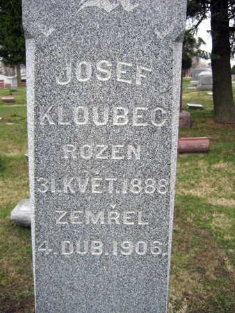 KLOUBEC, JOSEF - Linn County, Iowa | JOSEF KLOUBEC