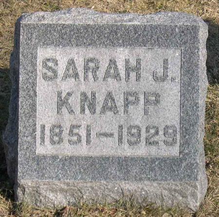 KNAPP, SARAH J. - Linn County, Iowa | SARAH J. KNAPP