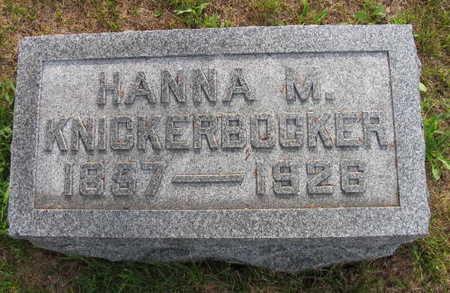 KNICKERBOCKER, HANNA M. - Linn County, Iowa | HANNA M. KNICKERBOCKER