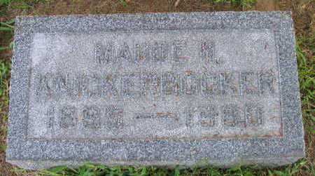 KNICKERBOCKER, MAUDE H - Linn County, Iowa | MAUDE H KNICKERBOCKER