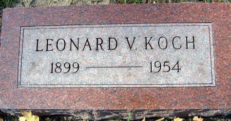 KOCH, LEONARD V. - Linn County, Iowa   LEONARD V. KOCH