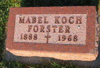 FORSTER, MABEL - Linn County, Iowa | MABEL FORSTER