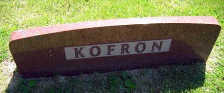 KOFRON, FAMILY STONE - Linn County, Iowa | FAMILY STONE KOFRON
