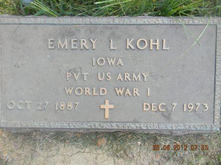 KOHL, EMERY L. - Linn County, Iowa   EMERY L. KOHL