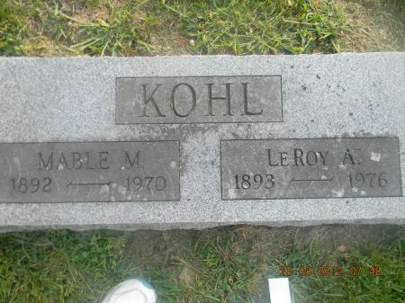 KOHL, MABLE M. - Linn County, Iowa | MABLE M. KOHL