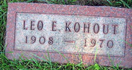 KOHOUT, LEO E. - Linn County, Iowa   LEO E. KOHOUT