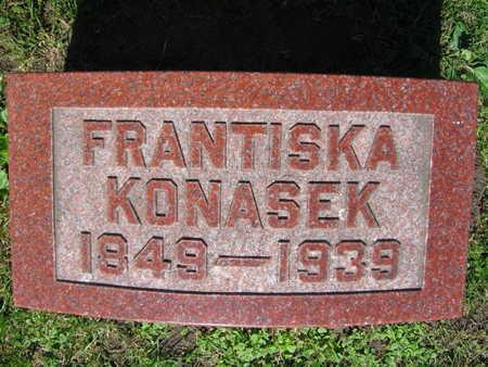 KONASEK, FRANTISKA - Linn County, Iowa   FRANTISKA KONASEK