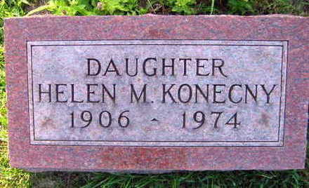 KONECNY, HELEN M. - Linn County, Iowa | HELEN M. KONECNY