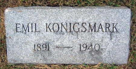 KONIGSMARK, EMIL - Linn County, Iowa   EMIL KONIGSMARK