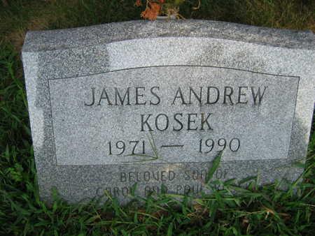 KOSEK, JAMES ANDREW - Linn County, Iowa   JAMES ANDREW KOSEK