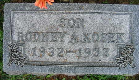 KOSEK, RODNEY A. - Linn County, Iowa   RODNEY A. KOSEK