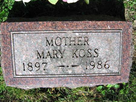 KOSS, MARY - Linn County, Iowa | MARY KOSS