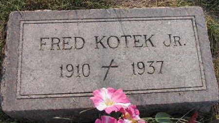 KOTEK, FRED JR. - Linn County, Iowa | FRED JR. KOTEK
