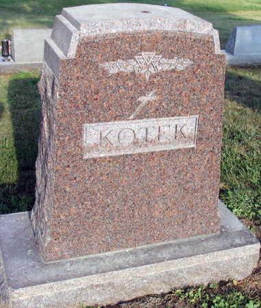 KOTEK, FAMILY STONE - Linn County, Iowa | FAMILY STONE KOTEK