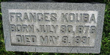 KOUBA, FRANCES - Linn County, Iowa | FRANCES KOUBA