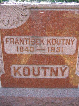 KOUTNY, FRANTISEK - Linn County, Iowa   FRANTISEK KOUTNY