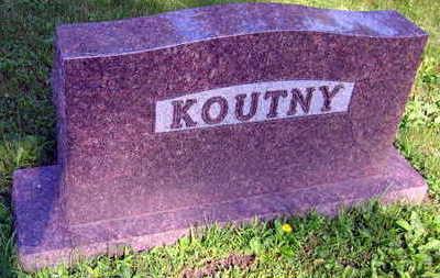 KOUTNY, FAMILY STONE - Linn County, Iowa | FAMILY STONE KOUTNY