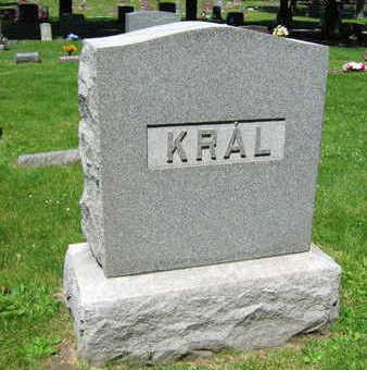 KRAL, FAMILY STONE   (KRAL NOVY) - Linn County, Iowa   FAMILY STONE   (KRAL NOVY) KRAL