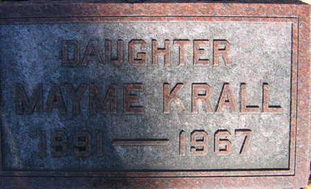 KRALL, MAYME - Linn County, Iowa | MAYME KRALL