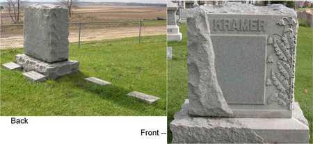 KRAMER, FAMILY STONE - Linn County, Iowa | FAMILY STONE KRAMER