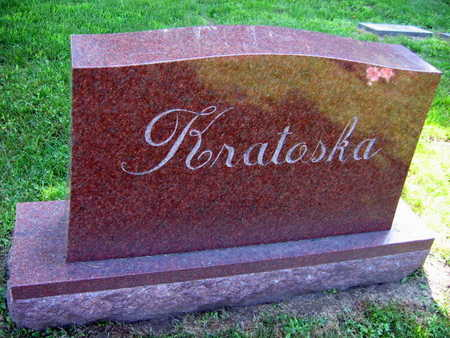 KRATOSKA, FAMILY STONE - Linn County, Iowa   FAMILY STONE KRATOSKA