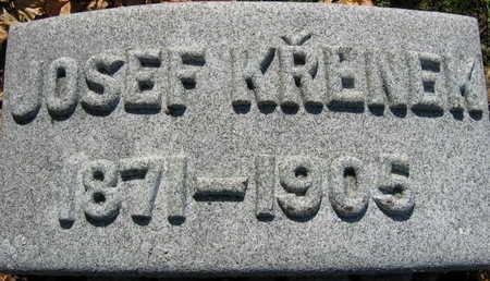 KRENEK, JOSEF - Linn County, Iowa   JOSEF KRENEK