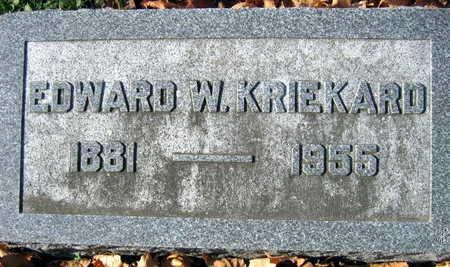 KRIEKARD, EDWARD W. - Linn County, Iowa   EDWARD W. KRIEKARD