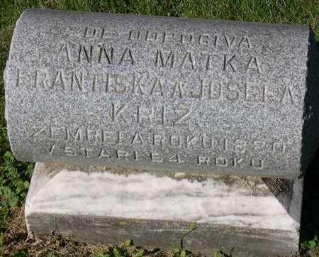 KRIZ, ANNA - Linn County, Iowa | ANNA KRIZ