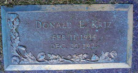 KRIZ, DONALD E. - Linn County, Iowa | DONALD E. KRIZ