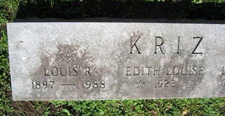 KRIZ, EDITH LOUISE - Linn County, Iowa   EDITH LOUISE KRIZ
