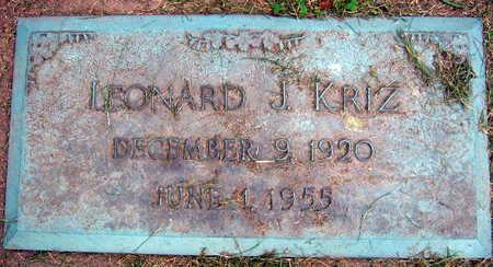 KRIZ, LEONARD J. - Linn County, Iowa | LEONARD J. KRIZ