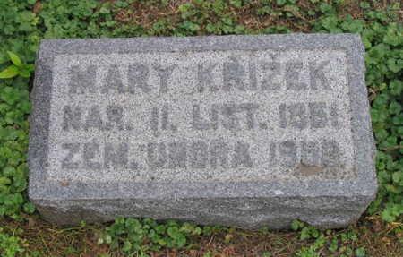 KRIZEK, MARY - Linn County, Iowa | MARY KRIZEK