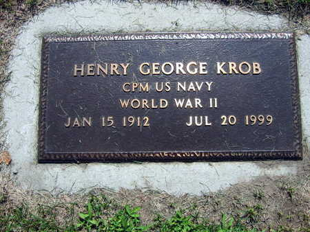 KROB, HENRY GEORGE - Linn County, Iowa | HENRY GEORGE KROB