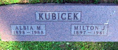 KUBICEK, ALBIA M. - Linn County, Iowa | ALBIA M. KUBICEK