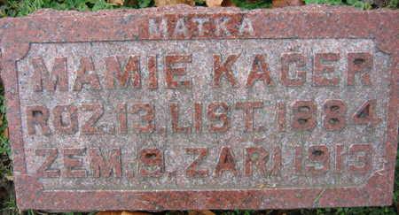 KUCERA KAGER, MAMIE - Linn County, Iowa   MAMIE KUCERA KAGER