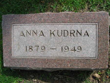 KUDRNA, ANNA - Linn County, Iowa | ANNA KUDRNA
