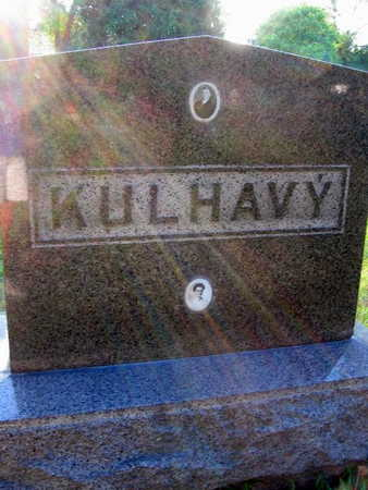 KULHAVY, FAMILY STONE - Linn County, Iowa   FAMILY STONE KULHAVY