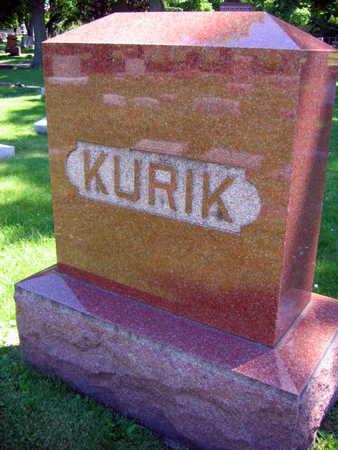 KURIK, FAMILY STONE - Linn County, Iowa | FAMILY STONE KURIK